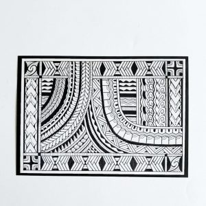 thierryrossen, prints, postcard, art, polynesian, maori, marquesan, haida, drawing, pacifictattoo, tattoo